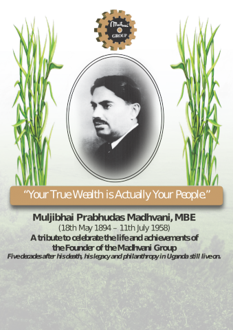 Muljibahi Madhvani Supplement Cover